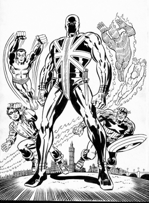 Union Jack & the Invaders by Jack Kirby