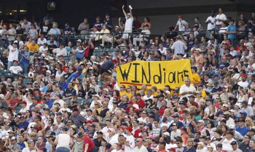 David Maxwell/Getty Images Cleveland Indians fans cheer during the fifth inning against the Pittsburgh Pirates in their game on June 19, 2011 at Progressive Field in Cleveland, Ohio.