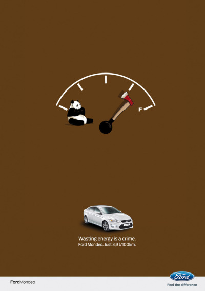 "cihanek:  ""Wasting energy is a crime"" Creative ""Ford"" Ads  Oh gosh, this would be an excellent way to make sure I don't wait for the gas to be even close to empty."