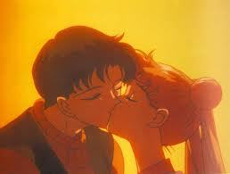 i love the way mamoru kissed usagi. sunkiss