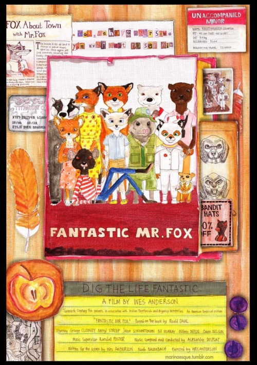 Fantastic Mr. Fox with a nod to The Royal Tenenbaums Made and submitted by Marinaesque