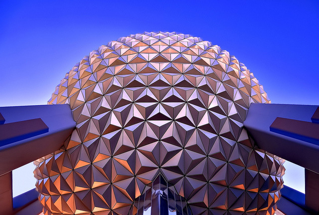 Spaceship Earth, Looking Up, Ultra Wide (Explored) by Express Monorail