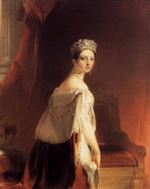 "Today in 1837: the 18-year-old Princess Victoria becomes Queen Victoria at Kensington Palace. ""Rule, Britannia!"""