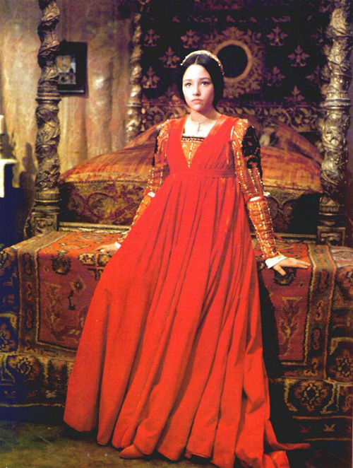 Olivia Hussey (Argentinian 1951) as Juliet in Romeo and Juliet, 1968