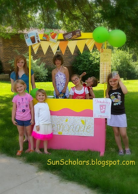 (via Sun Scholars: Lemonade Stand Learning) Keeping on with the lemonade stand theme, great explanation on why lemonade stands are both fun and educational for kids