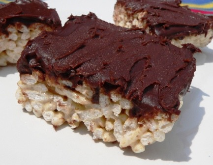 Chocolate Frosted Rice Krispy treats, dairy free (via Allergy Free Recipes, Tips and Deals - Part 2)