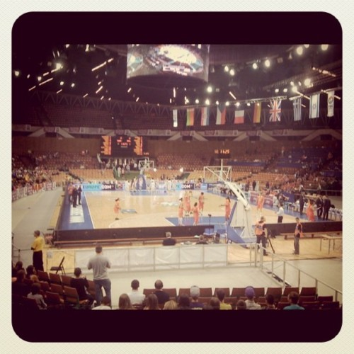 Poland v Spain, ladies basketball (Taken with instagram)