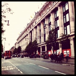 Oxford Street #london  (Taken with instagram)
