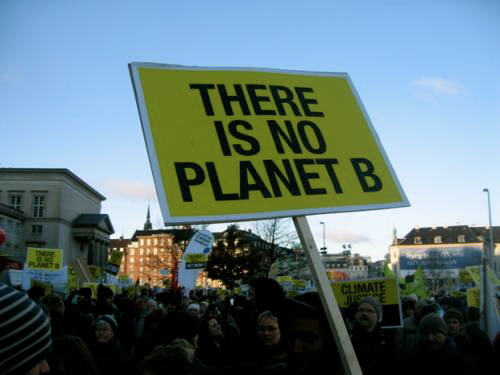 THERE IS NO PLANET B Environmental Rights Protest at the UN Climate Change Summit, Copenhagen, Denmark  verretarte