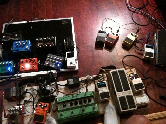 Are we using enough pedals? More pics and videos from the studio to come!