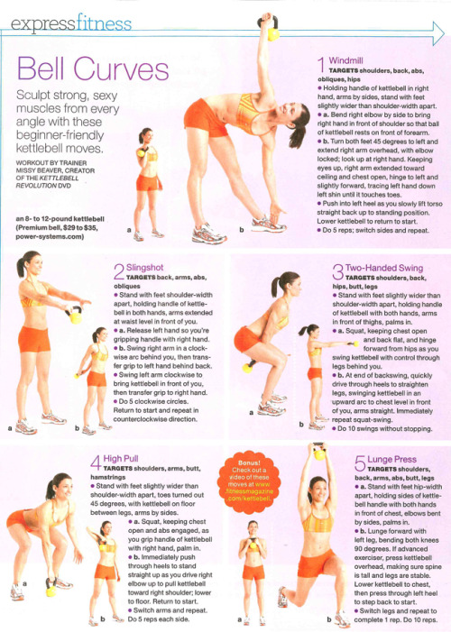 loveyourselfhealth:  atalantefit:  Benefits of the Kettle Bell Full-body conditioning. The body learns to work as one synergistic unit linked strongly together. Big results, less time because kettlebell training involves multiple muscle groups and energy systems at once. Increased resistance to injury The ability to work aerobically & anaerobically simultaneously. Improved mobility and range of motion Increased strength without increase of mass. Kettlebell exercisers are lean and toned, not bulky—a benefit that appeals to women and men alike. Enhanced performance in athletics and everyday functioning  When I get home I'm getting one of these!