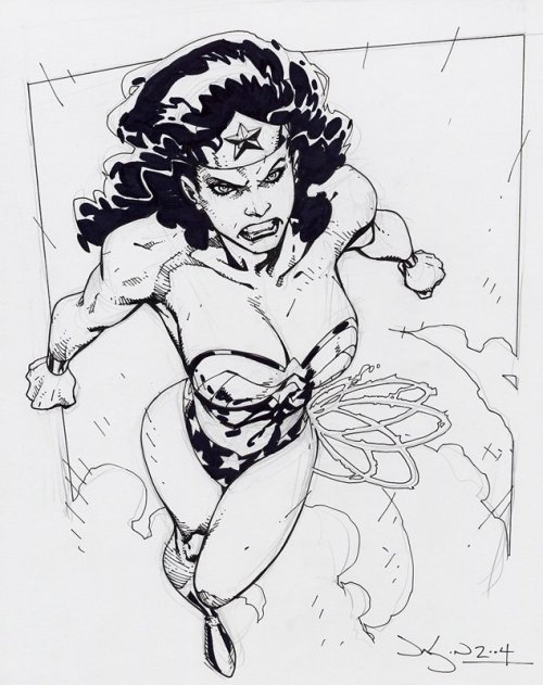 Wonder Woman Sketch  || by Jason Pearson