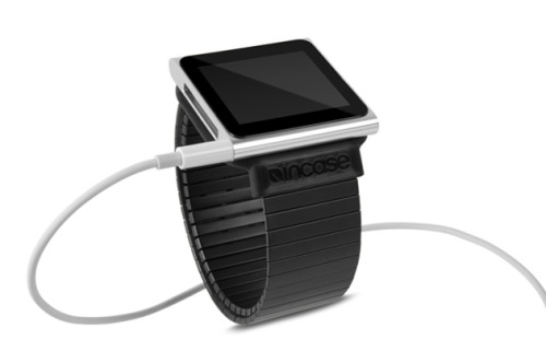 Flex Wristband for iPod Nano 6G - Incase  I'm a fan of Incase's bags and gadget cases, and this looks like one of the thinnest iPod nano wrist bands yet. I don't own a 6G nano, but its watch potential is tempting and this band makes it even more-so.