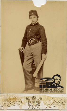 "Orion Howe served as a drummer boy in the 55th Illinois Infantry, Company C, enlisting at the age of 14. Orion was severely wounded in the 1863 Battle of Vicksburg. He is one of the youngest American soldiers to receive the Medal of Honor, and the poem, ""Before Vicksburg"" by George H. Boker appeared in the September 1864 issue of The Atlantic Monthly and tells the story of Orion's bravery at Vicksburg.   ©2011 Abraham Lincoln Presidential Library and Museum"