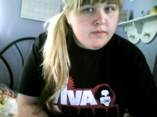 Wearing my Viva La Bam shirt with Dunn's faded signature in honor. RIP Random Hero. At least I got to hug him.