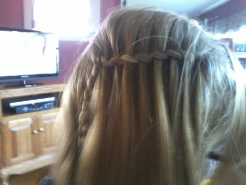 waterfall braid I did on my sister