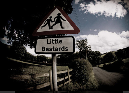 Caution: Little Bastards #lolz [ via bitsandpieces.us ]