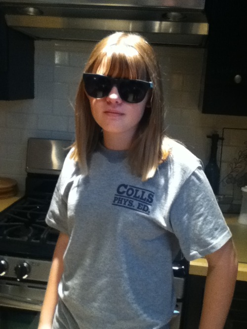 McKenzie wearing my sunglasses