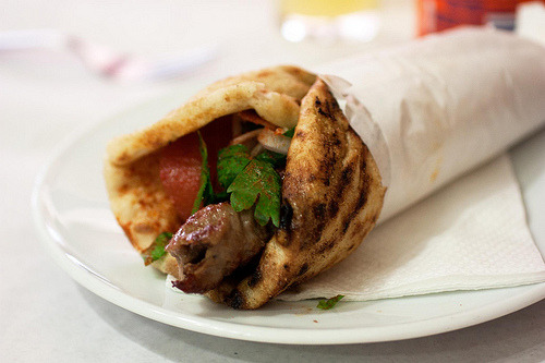 Greek Kebab Sandwich