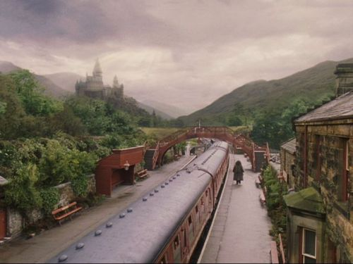 "feliix-felicis:  16. Hogsmeade StationLocation: Goathland Station, North Yorkshire The Hogwart's Express finishes its journey not  in Scotland but North Yorkshire. ""I'm reasonably up to speed on Harry  Potter now,"" says John Bruce, Station Master of Goathland, the real  Hogsmeade Station, which can be found near Whitby. ""People do recognise  the station. We get quite a lot of visitors, many of them are French or  Japanese youngsters."" Steam trains run through Goathland every day  during the summer. Despite leaving from the same terminus, getting there  is a trickier business than Harry's journey to Hogsmeade, explains  Bruce: ""You have to go from Kings Cross to Darlington, Middlesbrough and  then down Whitby line, with one change."""