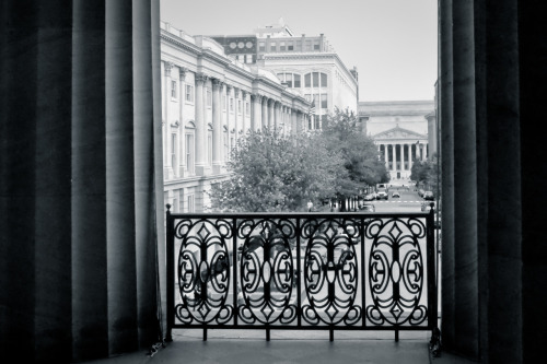 National Archives as seen from the National Portrait Gallery (Old Patent Office Building)Washington, DC11 June 2011