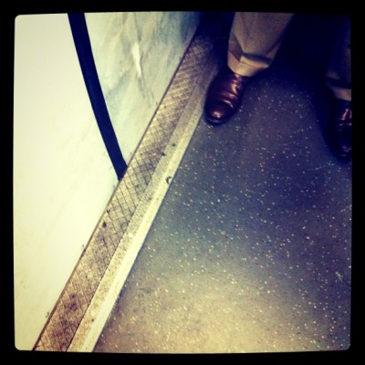 Bored on Bart… #dirty  (Taken with instagram)