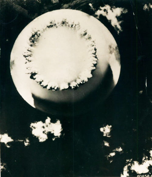 Atomic Bomb mushroom cloud at Bikini Island c. 1946
