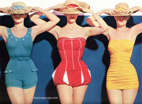 myvintagevogue:  Nanina Swimsuit Co 1954