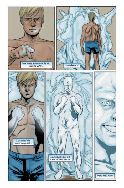 lemonninjajedi:  Iceman. One of my favourite X-Men (Gambit will always be number one though :D)