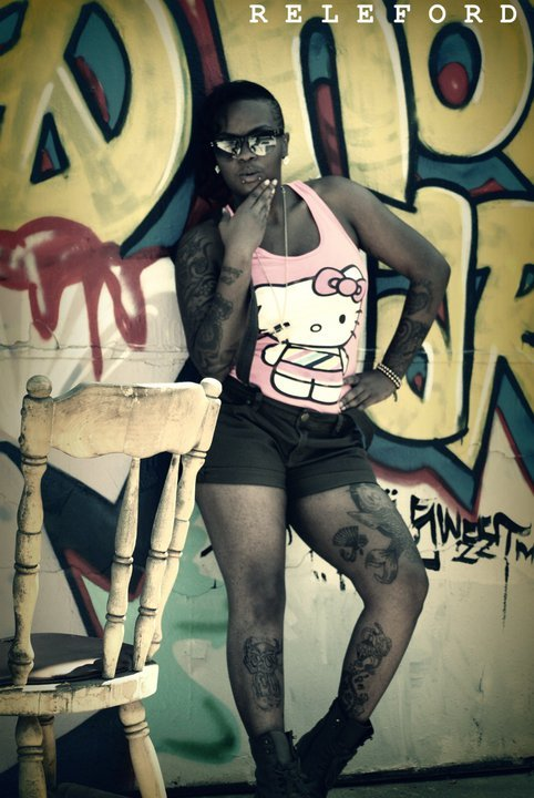 blackwomenink:  me !!! Young Black 19-year old female tattoo artist…who resides in south Los angeles :)