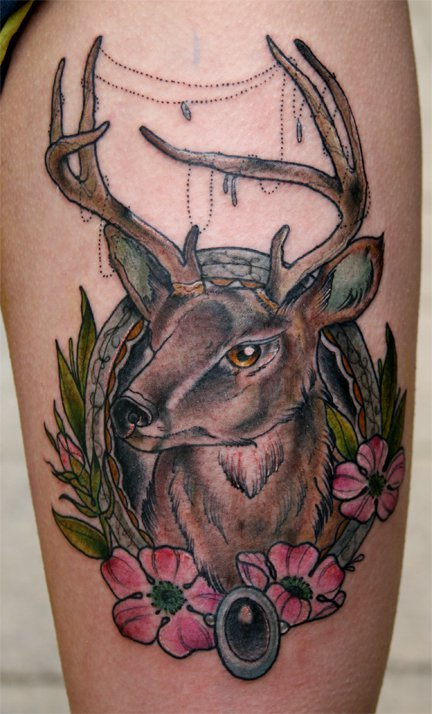 Deer #tattoo by Ben Gillard