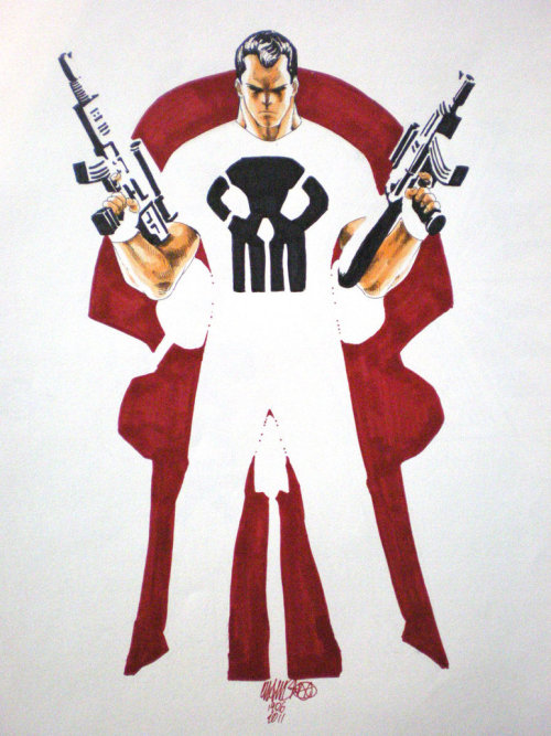 "timetravelandrocketpoweredapes:  Punisher by Jeffrey ""Chamba"" Cruz"