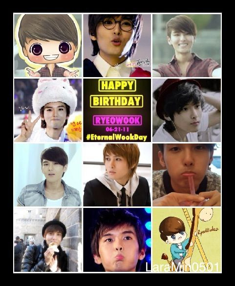 ~Happy Happy Birthday RyeoWook oppa my Eternal Cute Maknae ~ saranghe ~ #EternalWookDay ! \(^o^)/