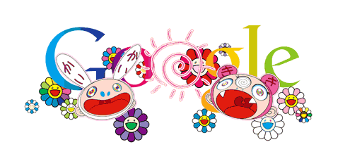 "Google 21st June 2011. ""Start of Summer"" doodle by Takashi Murakami 2011."
