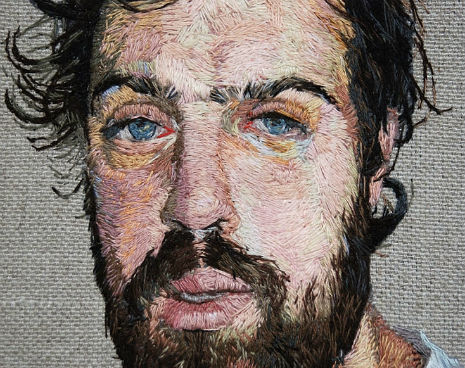 Embroidered Portraits by Daniel Kornrumpf via SwissMiss.