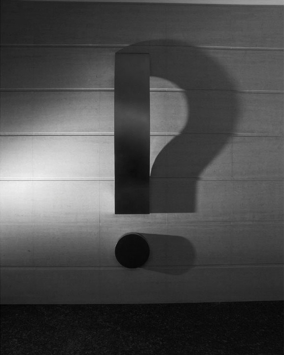 arpeggia:  Kumi Yamashita Question Mark, 2003Steel, light, shadowH200cm, W150cm, D20cmCollection of Namba Parks Tower, Osaka, Japan