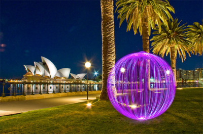 "The ""Ball of Light"" is an inspiring photographic project by Denis Smith. The glowing spheres are made by the photographer at night, using the technique of light painting."