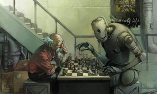 "neverstopdrawing:  ""Play Chess With Robot"" - Cuson"