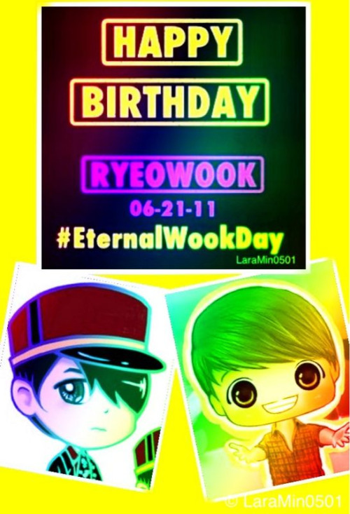 Another pic i made for our Birthday Celebrant Ryeowook oppa^^ #EternalWookDay! ^^ for @ryeong9 ^___^