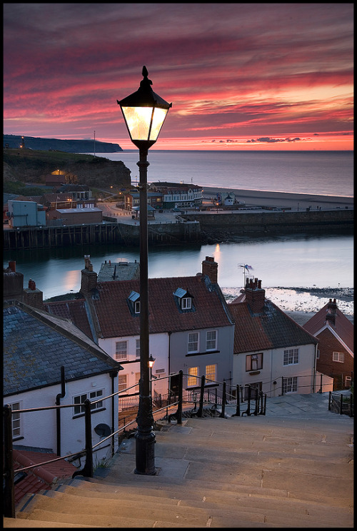 Whitby, Yorkshire, England (via 199 steps: Photo by Photographer David Speight - photo.net)
