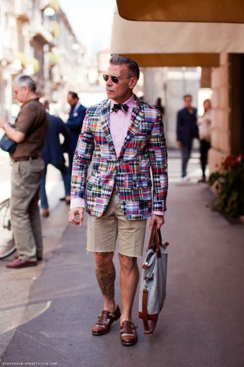 Nick Wooster in a Madras sportcoat