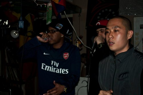@GWiZdaKiD, @BigNiGHTS, and @QuarterCipher rockin at Synth Swag in BK
