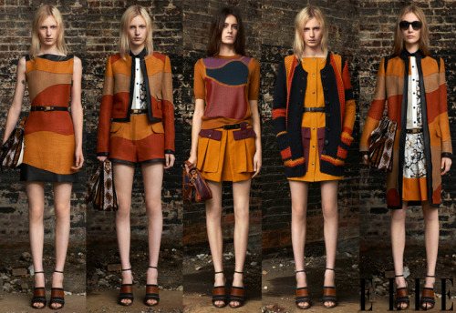 elle:  Resort 2012 Peep Proenza Schouler's Western palette for pre-spring! See the rest of the looks and all the collections thus far.  Photo: courtesy of Proenza Schouler
