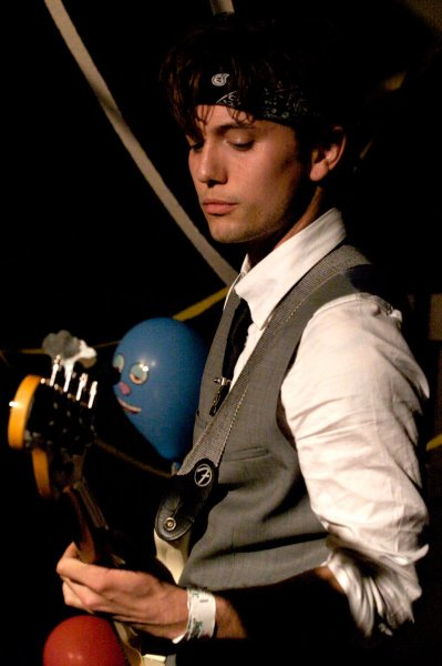 jrathbonefb:  Jackson Rathbone Picture Of The Day. Performing at the Liquid Zoo album release party.