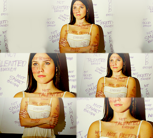 "penelopedavis:  Brooke Davis: That's what I'm afraid of. Not being enough. Not good enough, not smart enough, not pretty enough.""People are gonna label you. It's how you overcome those labels. That's what matters."""