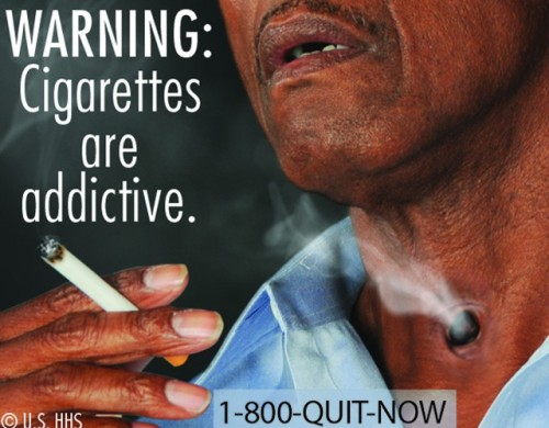 FDA issues graphic warnings to help smokers quit Starting next year, cigarettes Will have to put warnings like this on all their packs. The graphic warnings will cover up about half of the pack — both front and back. (For a slideshow of the graphic images, check here.) They should hit around September of next year. While the FDA says that this will help people quit, others say smokers are already aware of the risk they take when they light up. It's also worth noting that other countries have had much harsher warnings on their cigarettes for years, and studies have shown they've helped people quit smoking. Either way, tobacco companies aren't happy with this, and neither are many smokers. What do you think? source Follow ShortFormBlog