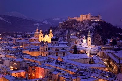 A winter night in Salzburg, Austria
