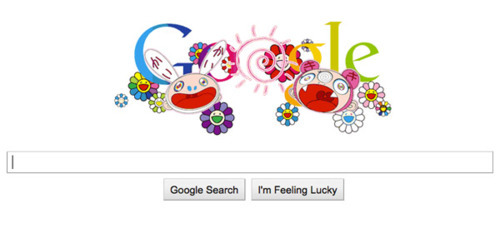 GOOGLE DOODLE BY TAKASHI MURAKAMI FOR SUMMER AND WINTER SOLSTICE