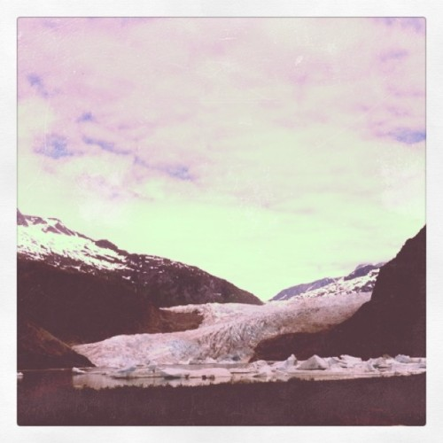 kailani7:  Pretty much a huge wall/river of ice. #mendenhall #glacier #alaska (Taken with instagram)  This is pretty much the view from my office.