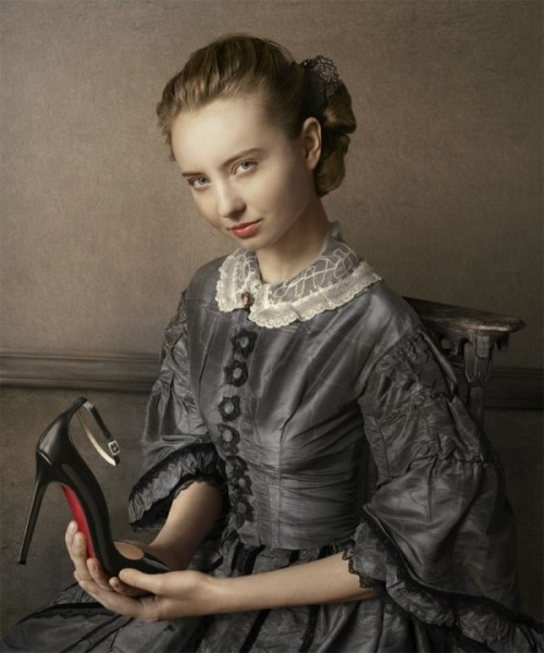 Classic portrait paintings meets fashion: Louboutin F/W 11 Lookbook by Peter Lippman